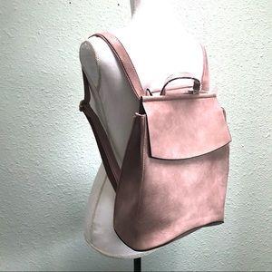 Handbags - NWT Dusty Pink Vegan Leather Backpack Purse